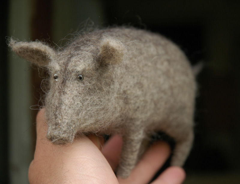old boar made from wool